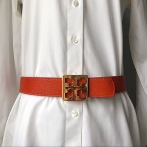 Tory Burch Reversible Belt with Gold Logo